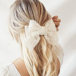 True Destiny White Lace Oversized Bow Hair Clip | Lulus (US)