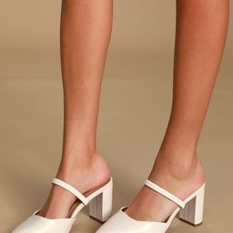 Maryna Off White Pointed-Toe Mules | Lulus (US)