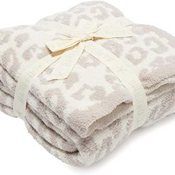 Barefoot Dreams CozyChic Barefoot in The Wild Throw Stone/Cream One Size   Amazon (US)