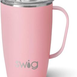 Swig Life 18oz Travel Mug with Handle and Lid, Stainless Steel, Dishwasher Safe, Cup Holder Frien...   Amazon (US)