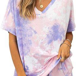 PRETTYGARDEN Women's Leopard Print Two Piece Pajamas Set Short Sleeve Tops With Drawstring Shor...   Amazon (US)