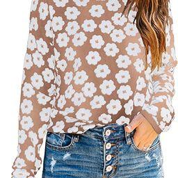 PRETTYGARDEN Women's Knit Floral Print Sweater Crewneck Long Sleeve Lightweight Pullover Sweatshi... | Amazon (US)