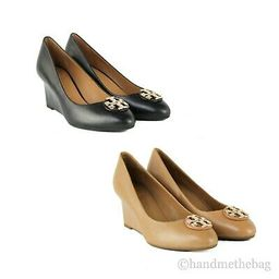 Tory Burch (60915) Claire Calf Leather 65MM Closed Toe Wedge Slip On Heel Shoes   eBay US