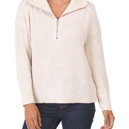 Rachel Zoe Quarter Zip Mock Neck Sweater   Marshalls