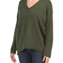 BCBGMaxazria V Neck Center Seam Sweater   Marshalls