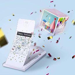 «BOOM» - exploding greeting birthday confetti card surprise box prank her him friend woman man ...   Amazon (US)