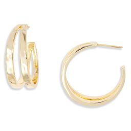 Zorte Split Hoop Earrings   Nordstrom