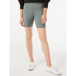 Free Assembly Women's High Waisted Bike Shorts - Walmart.com | Walmart (US)