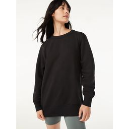 Free Assembly Women's Tunic Fleece Sweatshirt with Long Sleeves - Walmart.com | Walmart (US)