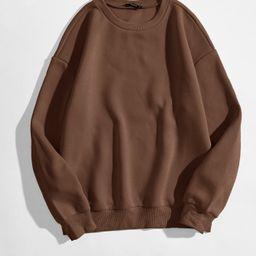 Solid Round Neck Sweatshirt | SHEIN