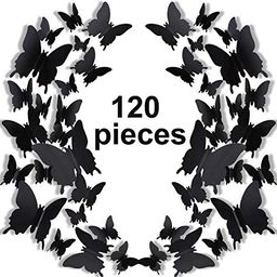 120 Pieces 3D Butterfly Wall Stickers 3 Sizes Removable Butterfly Mural Decals for Baby Kids Room... | Amazon (US)