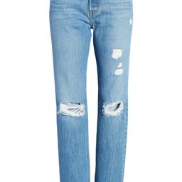 501® Ripped Straight Leg Jeans   Nordstrom