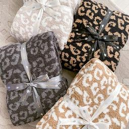 Buttery Leopard Blanket- PRE ORDER OCT. 10th (Taupe/ white & Grey/ Charcoal) | The Styled Collection