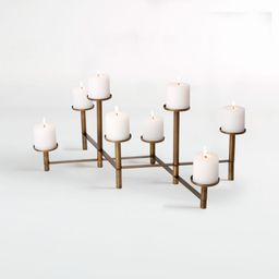 Brass Fireplace Candelabra + Reviews   Crate and Barrel   Crate & Barrel