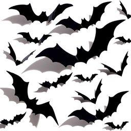 Halloween 3D Bats Decoration Plastic Bat Wall Stickers for Home Window Decor Party Supplies (60PC...   Amazon (US)
