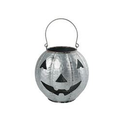 "9"" Galvanized Metal Jack-O-Lantern by Ashland® | Michaels Stores"