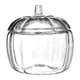 Clear Glass Pumpkin Halloween Candy Dish Decorative Jar | Target