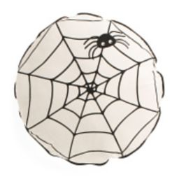 18in Round Spider Web Pillow   TJ Maxx