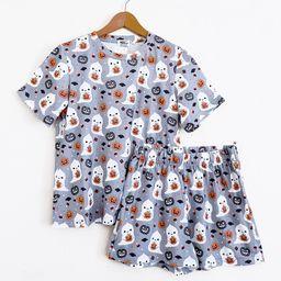 Pumpkin Ghost Halloween Pajamas - Shorts and Top Set   Etsy (US)