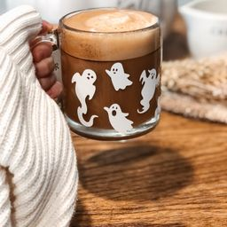 Ghost Mug, Halloween Mug, Spooky Coffee Mug, Cute Ghost, Glass 13oz Mug, Halloween Gift, Autumn M... | Etsy (US)