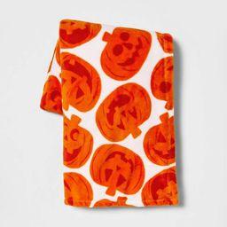 Pumpkin Halloween Throw Blanket Orange/White - Hyde & EEK! Boutique™   Target