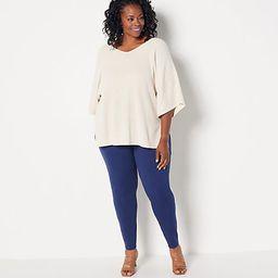 Girl With Curves Regular Ponte Leggings   QVC