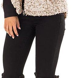 MEROKEETY Women's Casual Sherpa Fleece Lightweight Fall Warm Zipper Vest Outwear | Amazon (US)