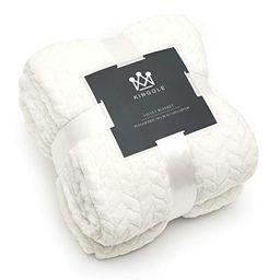 Kingole Flannel Fleece Microfiber Throw Blanket, Luxury Irovy Cream Twin Size Lightweight Cozy Couch   Amazon (US)