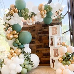 Oopat DIY Olive Sage Balloon Arch Garland Kit for Sage Party Boho Bridal Shower Baby Shower Weddi... | Amazon (US)