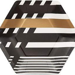 Papyrus Paper Dessert Plates, Black & Gold Rush (24-Count) | Amazon (US)