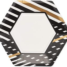 Papyrus Paper Dinner Plates, Black & Gold Rush (24-Count) | Amazon (US)