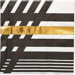 Papyrus Lunch Napkins, Black & Gold Rush (20-Count) | Amazon (US)