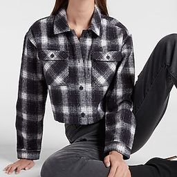 Cropped Plaid Flannel Shirt   Express