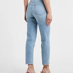 Super High Waisted Medium Wash Mom Jeans | Express