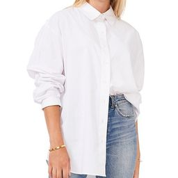 Long Cuff Sleeve Point Collar Neck Button Down Shirt Tunic   Dillards