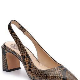 Hamden Snake Print Leather Sling Pumps | Dillards