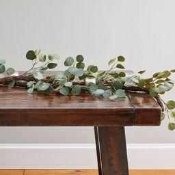 Faux Silver Dollar Eucalyptus Garland, 5' - Green   Pottery Barn (US)