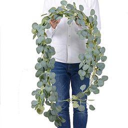 Artificial Eucalyptus Garland2 Packs Faux Silk Eucalyptus Vines Artificial Garland Greenery   Amazon (US)