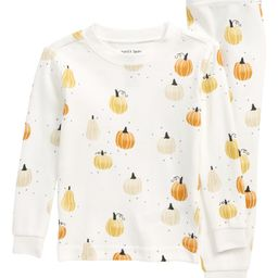 Pumpkin Two-Piece Fitted Cotton Pajamas | Nordstrom