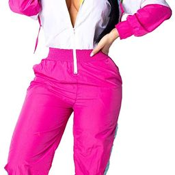EOSIEDUR Women's Pullover Hoodies Jumpsuit Zipper Jacket Windbreaker Elastic Waistband Pants One ... | Amazon (US)