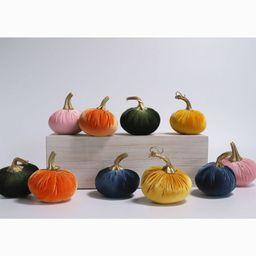 10ct Small Velvet Pumpkins - Bullseye's Playground™ | Target