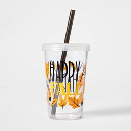 12oz Plastic Happy Fall Tumbler with Straw - Hyde & EEK! Boutique™ | Target
