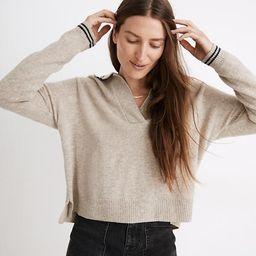 Tipped Davie Polo Sweater | Madewell