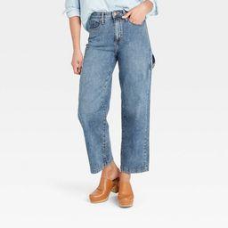 Women's High-Rise Wide Leg Carpenter Cropped Jeans - Universal Thread™ | Target