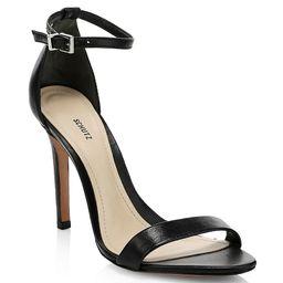 Schutz Cadey-Lee Leather Ankle-Strap Sandals | Saks Fifth Avenue