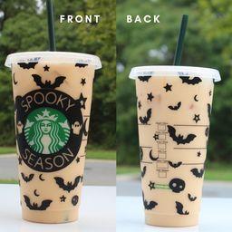 Halloween Starbucks Cup, Fall Starbucks Cup , Spooky Season Starbucks Cup , fall season cup, spoo... | Etsy (US)