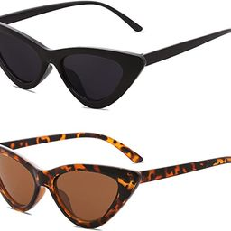 SOJOS Retro Vintage Narrow Cat Eye Sunglasses for Women Clout Goggles Plastic Frame Cardi B SJ204...   Amazon (US)