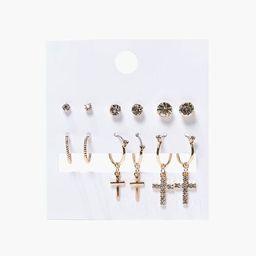 Rhinestone Stud & Drop Earring Set   Forever 21 (US)