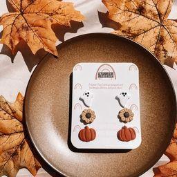 Fall Stud Packs | POLYMER CLAY EARRINGS | Fall Earrings | Ghost Clay Earrings | Pumpkin Clay Earr... | Etsy (US)