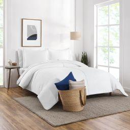 Gap Home Washed Denim Reversible Organic Cotton Comforter Set, King, White, 3-Pieces | Walmart (US)